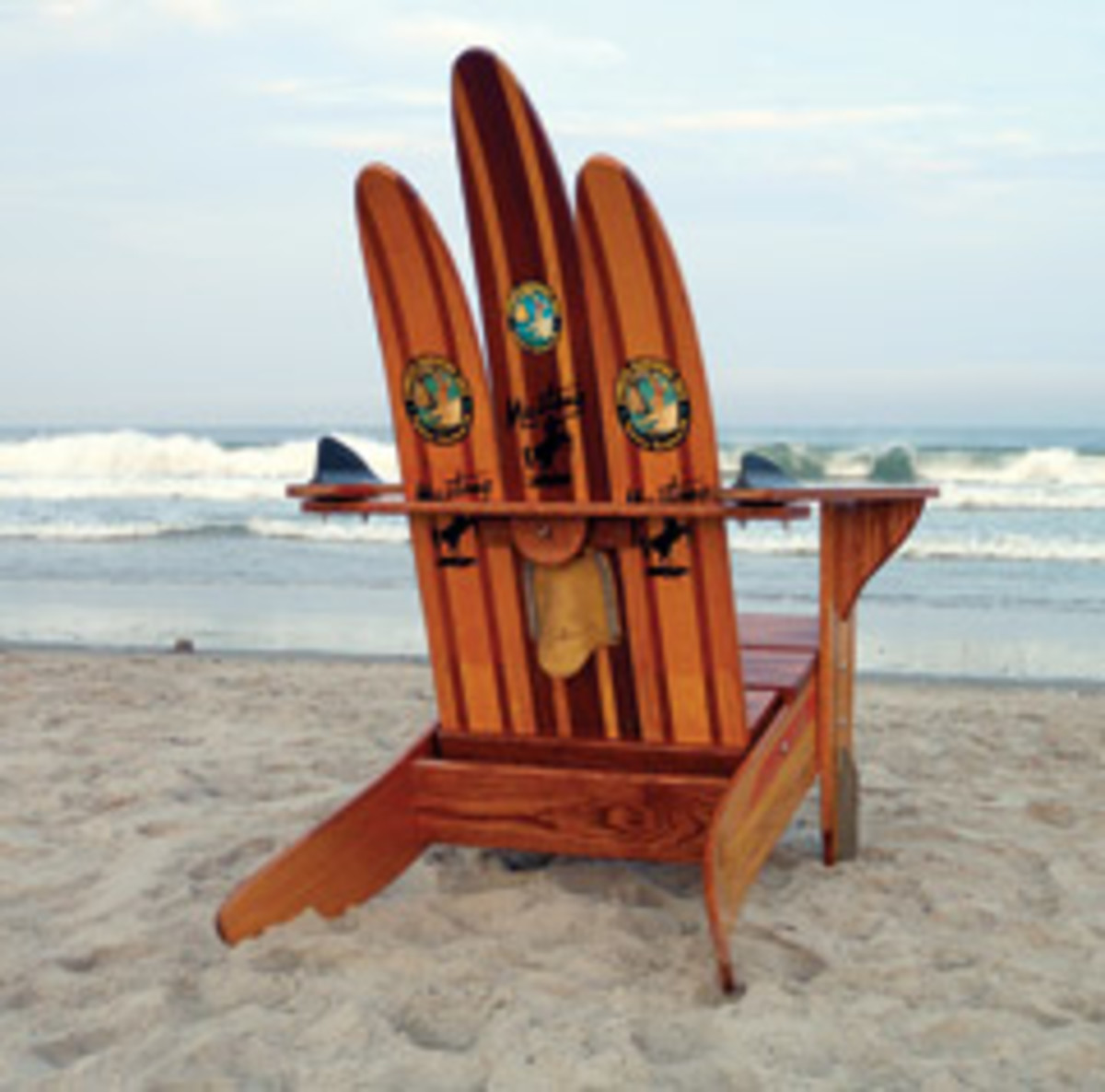 Brian Amaral Turns Vintage Water Skis Into Furniture Through His Business,  Water Ski Adirondack Chairs