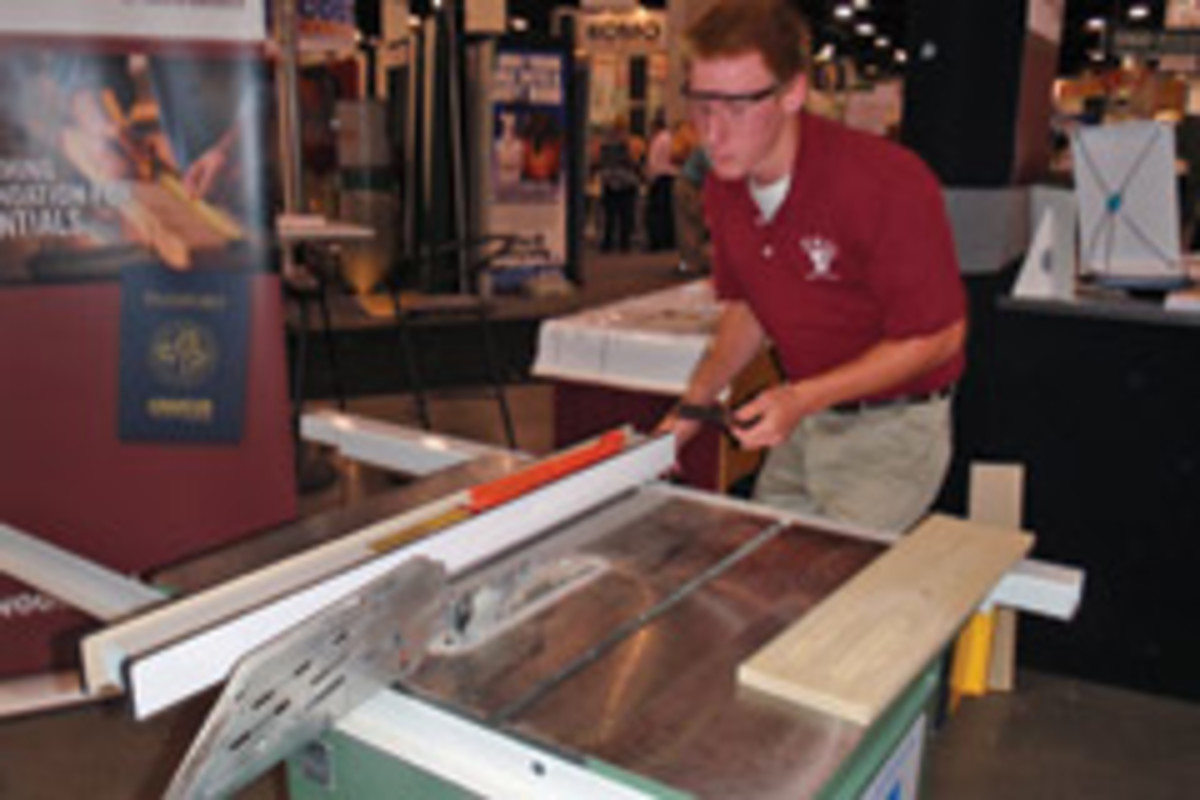 The Woodwork Career Alliance hosted skill evaluation sessions on the show floor.