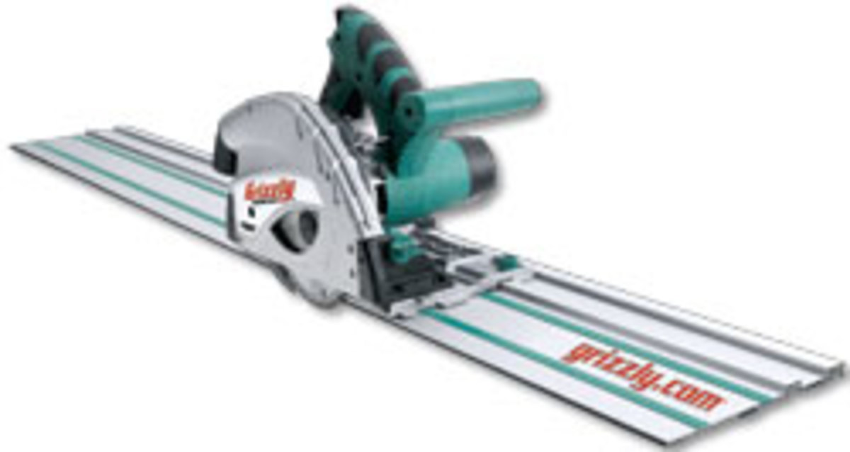 Grizzly's Track Saw with guide rail.