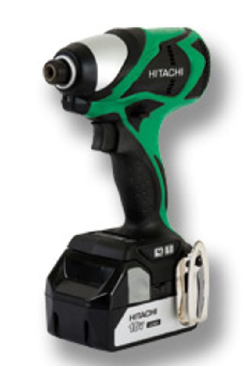 Hitachi's 18-volt lithium-ion brushless impact driver, model WH18DBDL.