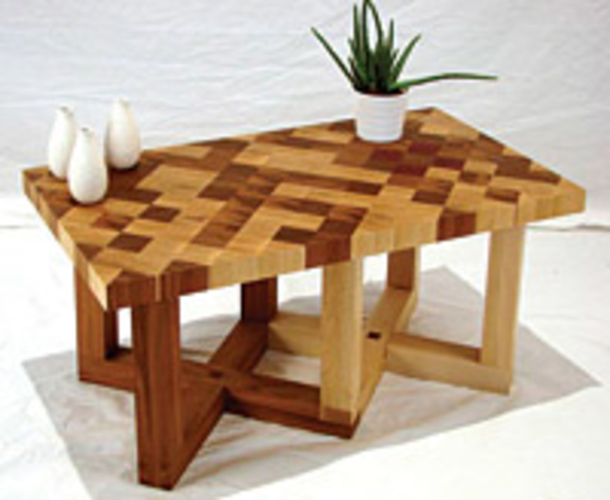 Brittany Walsh used a complex binary code pattern when creating this tabletop.