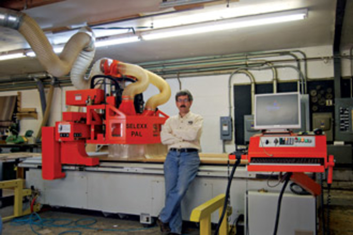 """Leland Thomassette of Taghkanic Woodworking in Pawling, N.Y., will present """"CAD/CNC for the Small Custom Furniture Shop"""" in July at the AWFS fair."""