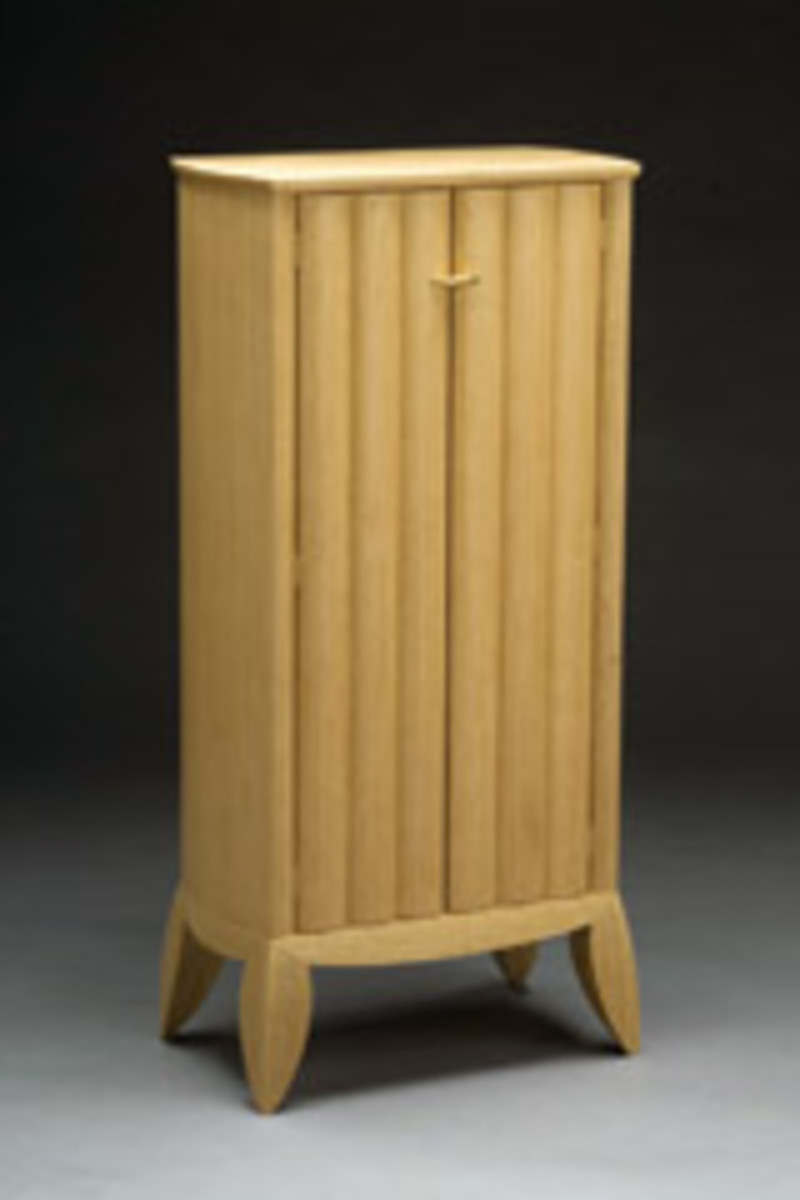 """Cabinet"" by Nate Blaisdell of Somerville, Maine, from quartered white oak."