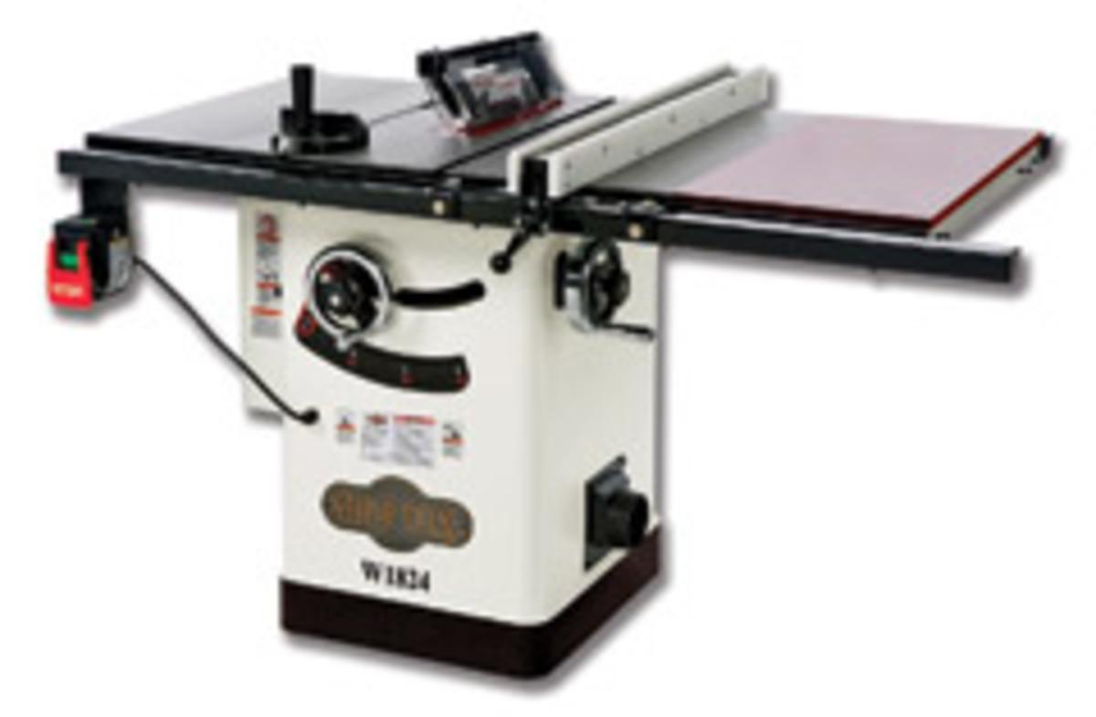 The Shop Fox hybrid table saw model W1824.