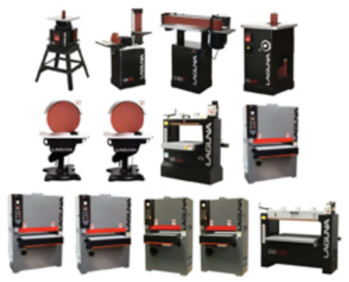 Laguna Tools carries a wide range of small- and medium-sized machines, including several models of spindle, belt and disc sanders.