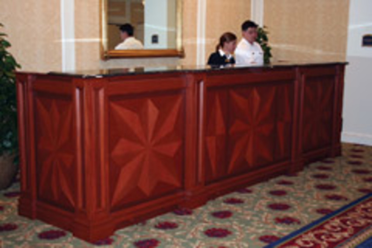 Northside created this concierge station for the Washington Duke Inn in Durham, N.C.