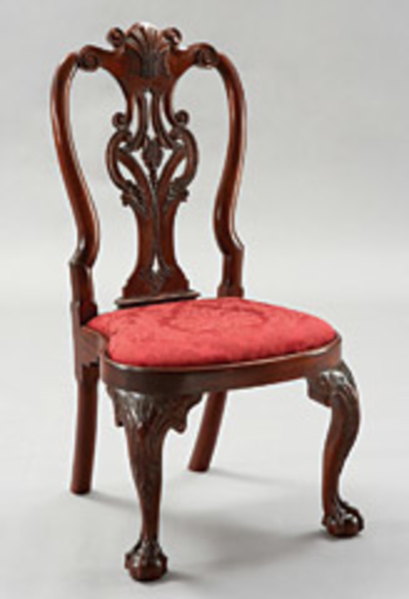 Honduran mahogany and pin for the slip-seat frame were the woods used in Tony Kubalak's Philadelphia Queen Anne Side Chair, which won the Best Traditional Design award.