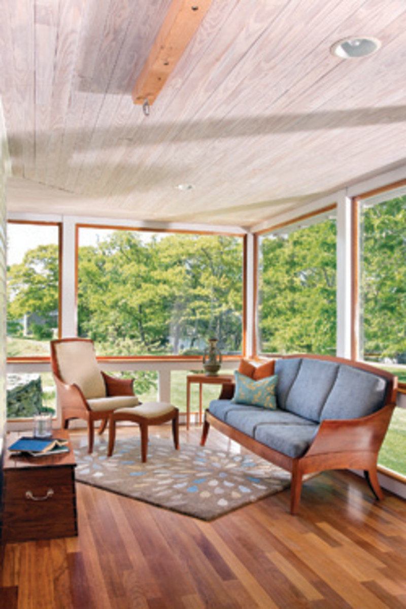 Furniture from the Thos. Moser collection includes this sunroom set.