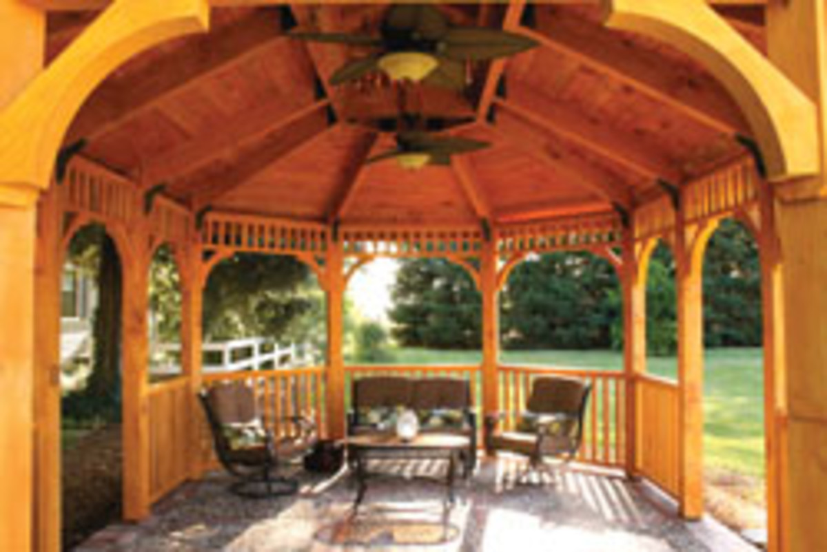 A gazebo captured the exterior project category, built by Gary Allison of Turlock, Calif.