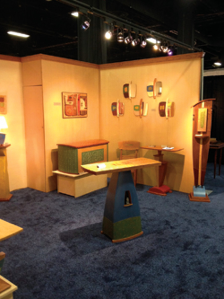 Mark Del Guidice's booth at the 12th annual Craftboston Spring Show.