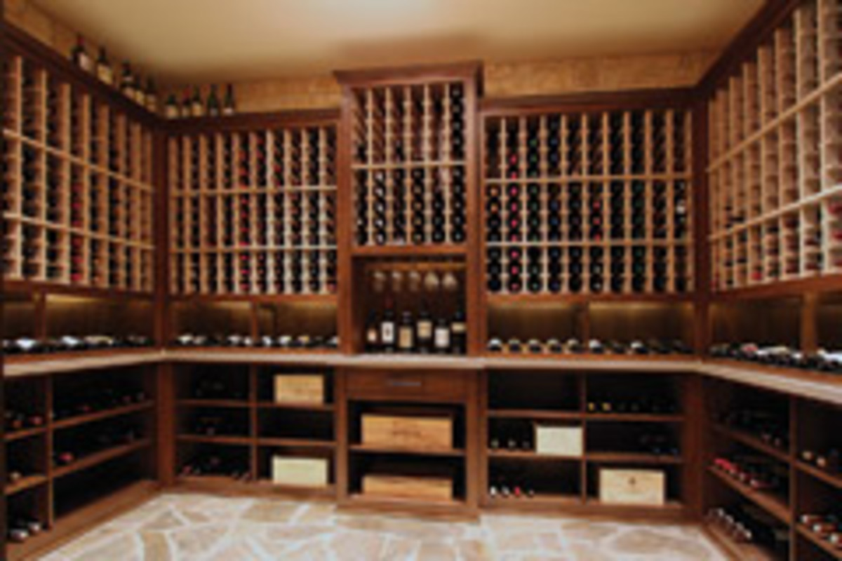 Farris has built plenty of kitchens, but this wine room was one of his favorite projects.