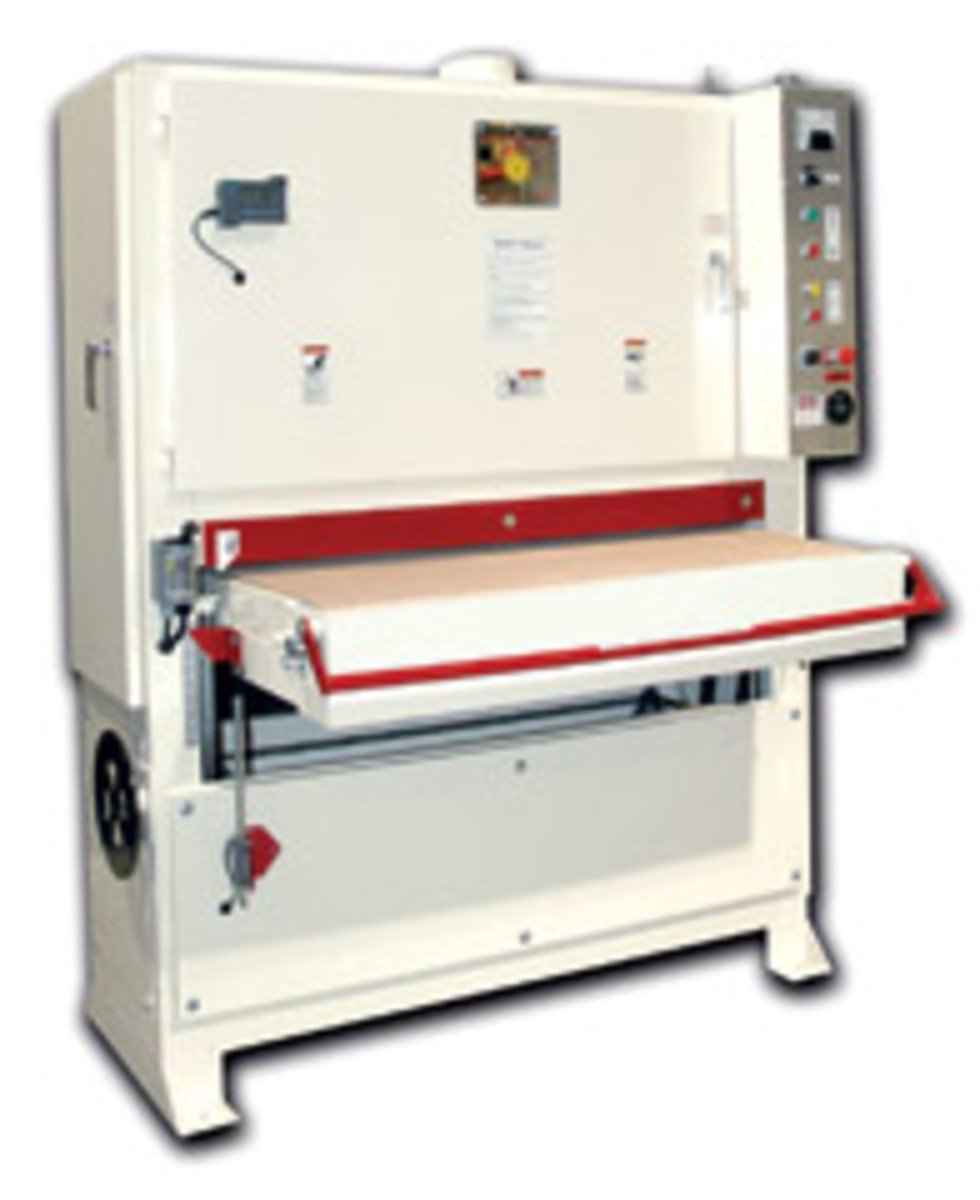 "Safety Speed Mfg.'s wide belt offerings include 37"" and 43"" models."