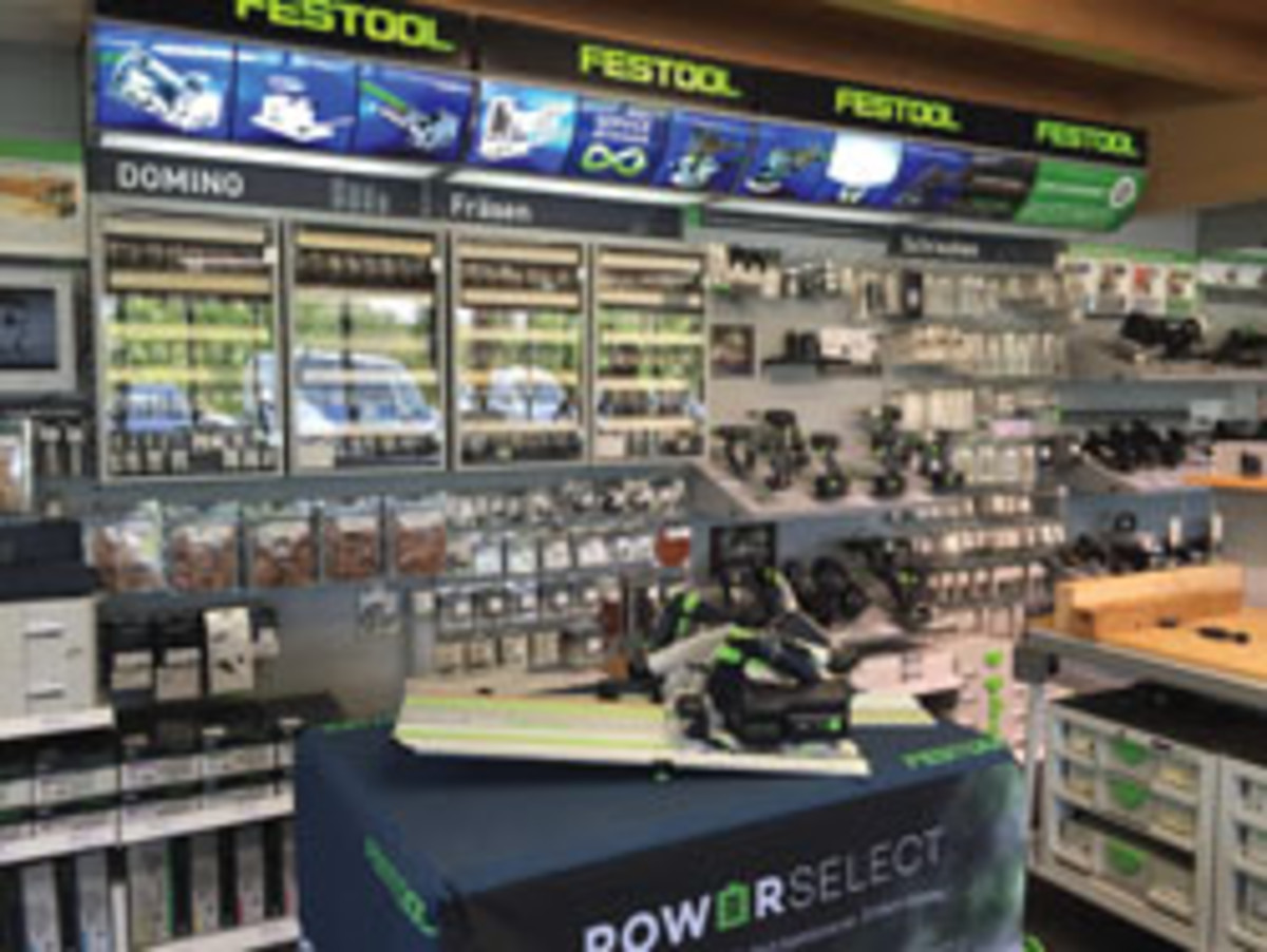 A Festool dealer showroom in Aichstetten, Bavaria.