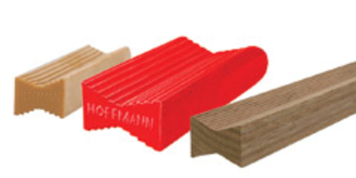 Hoffman offers handheld, benchtop and floor-model machines that cut dovetail-shaped grooves. The corresponding keys come in plastic, hardwood, metal and rubber.