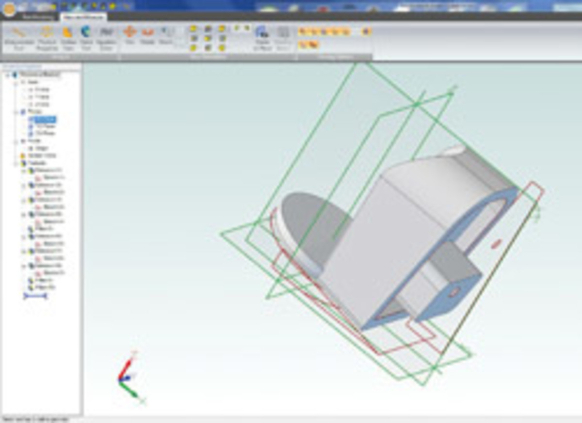 The 3-D model of the replacement microwave part, designed with the printer's $45 software.