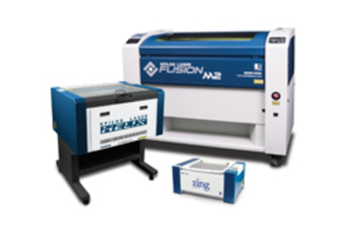 Epilog Laser Systems has three product lines aimed at woodworking shops, including the Fusion, Helix (in the Legend Series) and Zing.