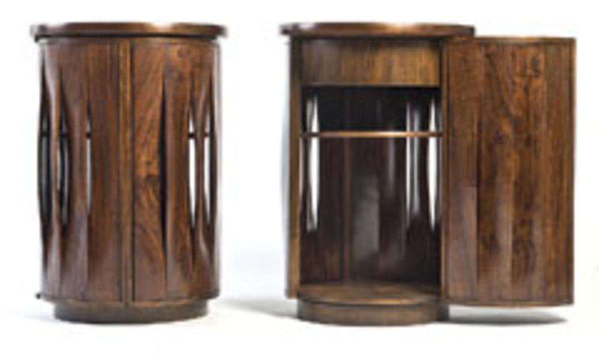 Side tables by Thomas Hucker in American black walnut.
