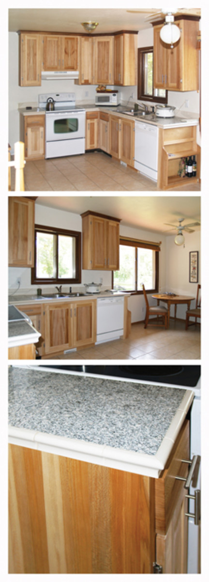 The author built this custom kitchen using quartersawn sycamore that had been harvested on a friend's family farm.