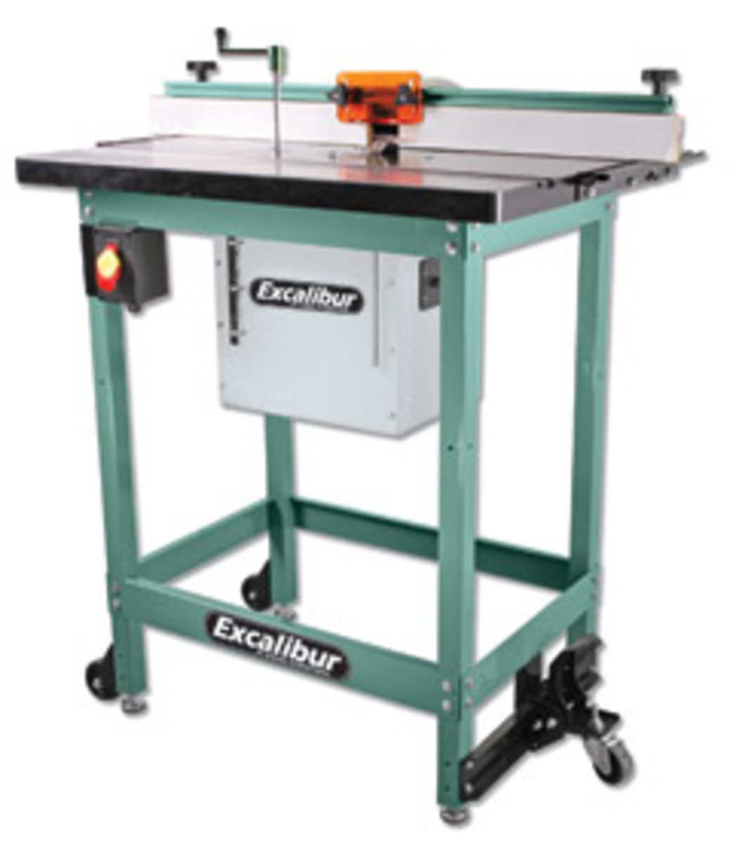 General International's new floor cast-iron router table.