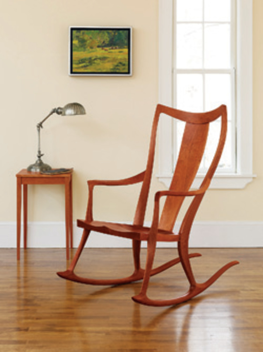 Furniture from the Thos. Moser collection includes this Pasadena chair.