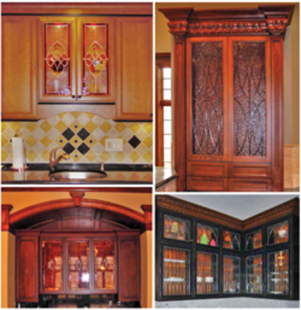 """Middlefield Glass offers a """"design online"""" option that allows a woodshop to partner in the stained-glass design process."""