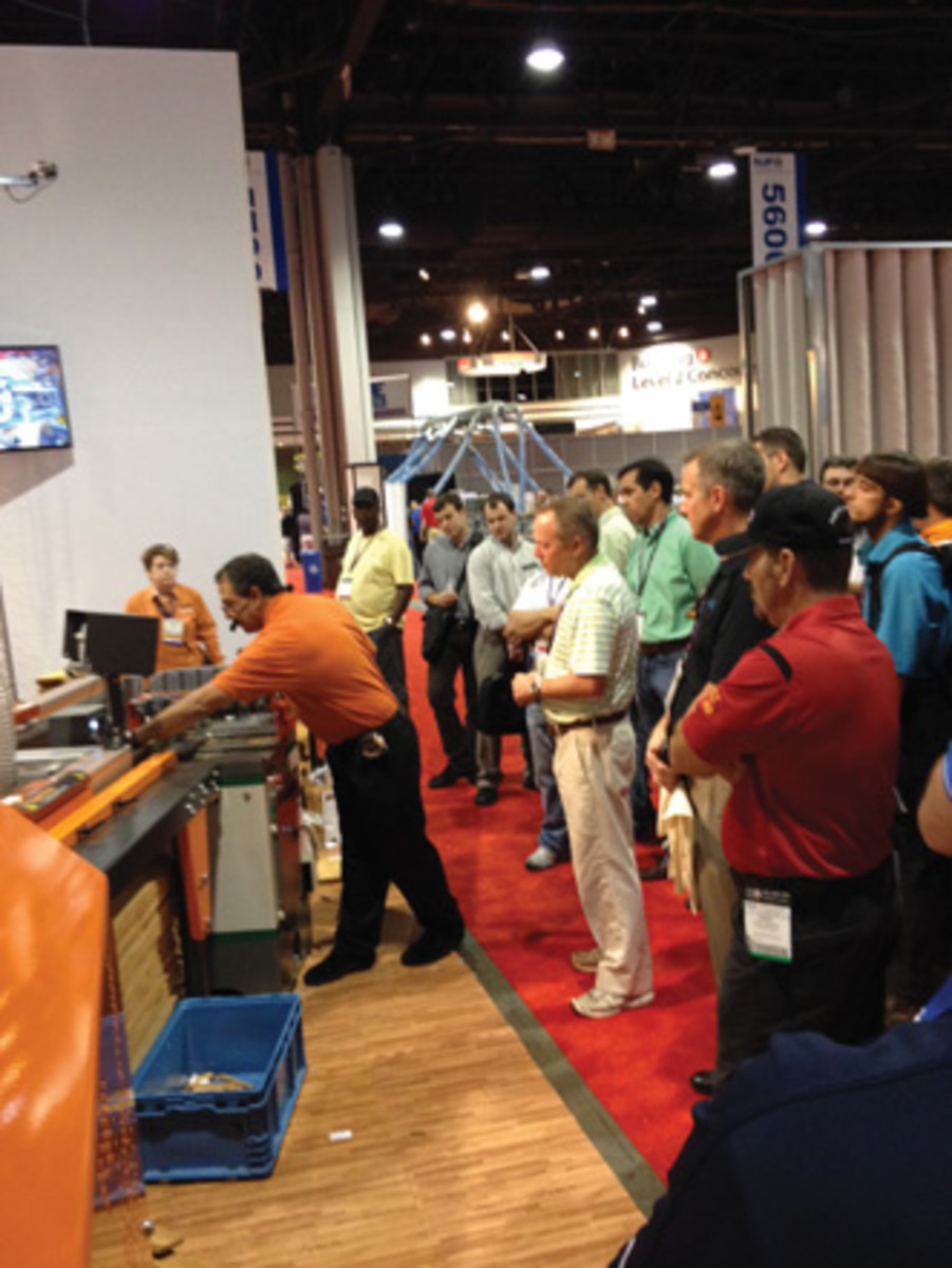 The TigerStop booth drew big crowds throughout the show.
