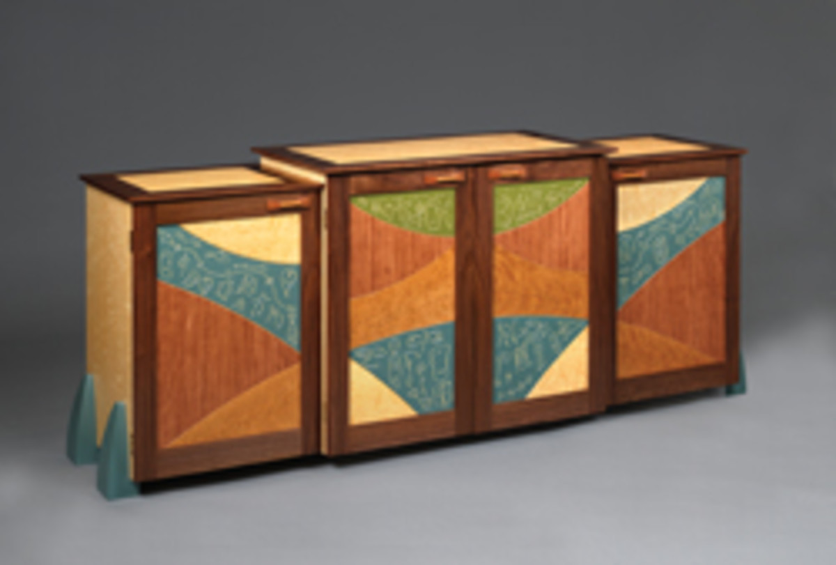 Work By CraftBoston exhibitors includes this credenza by Mark DelGuidice of Concord, Mass.