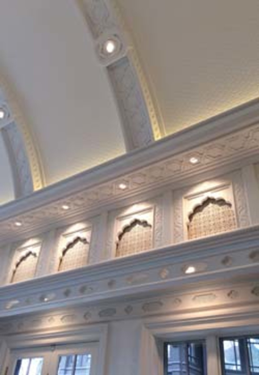 Staack Moore's extensive portfolio includes this home interior designed with Taj Mahal or Mughal style architecture.