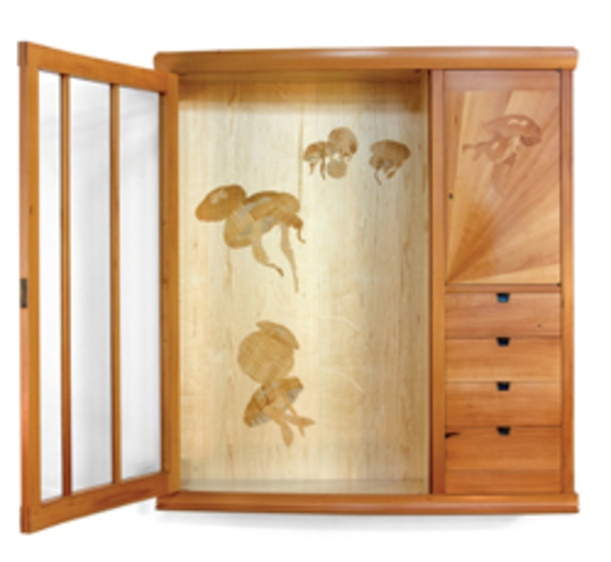 Jellyfish Wall Cabinet, by Jay T. Scott, was Best of Show in 2014.