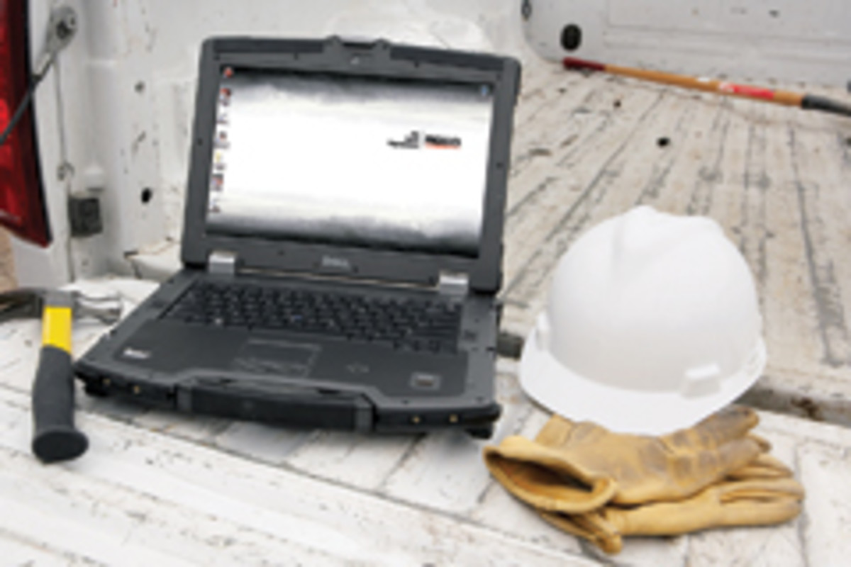 Ridgid's line of four Dell laptops is loaded with the company's software.
