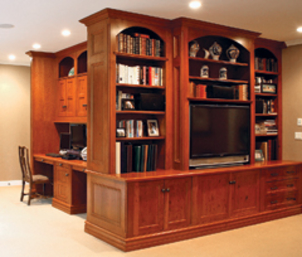 Hudson Cabinetmaking's primary products are built-ins and kitchens.