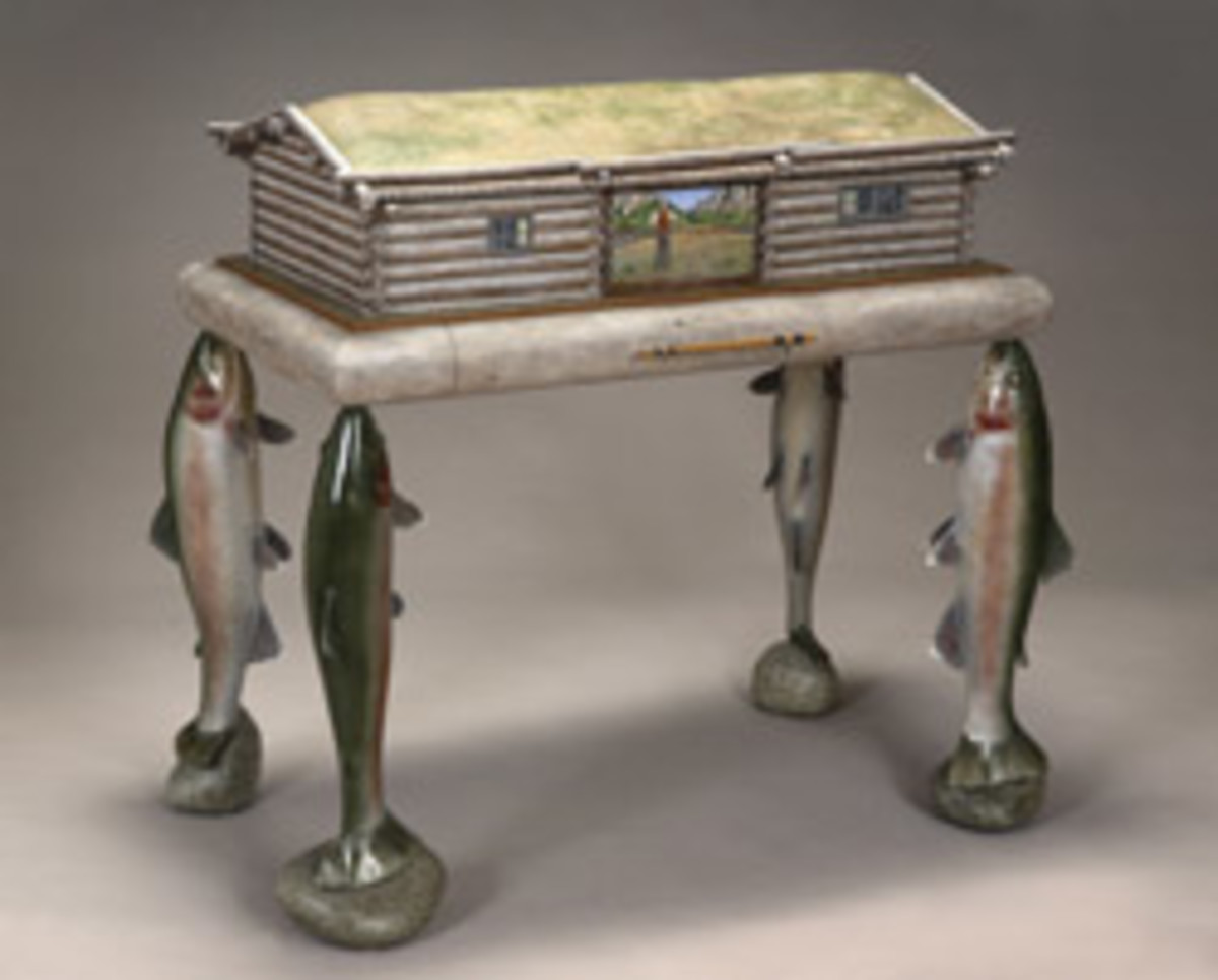 """Fishing Desk"" by Maine's Thomas Dahlke."