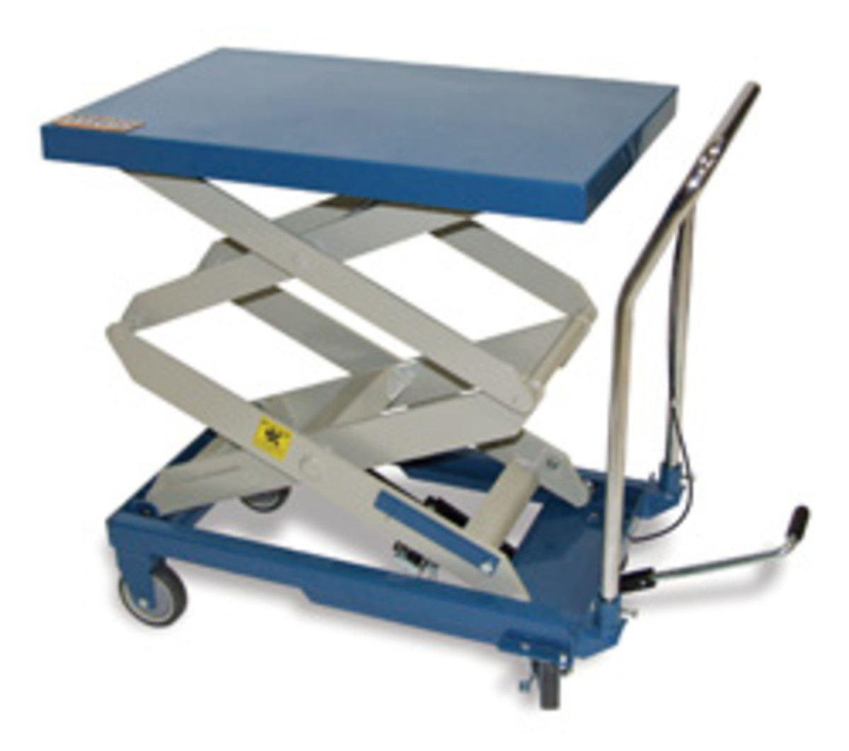 Baileigh's single-arm hydraulic lift cart.