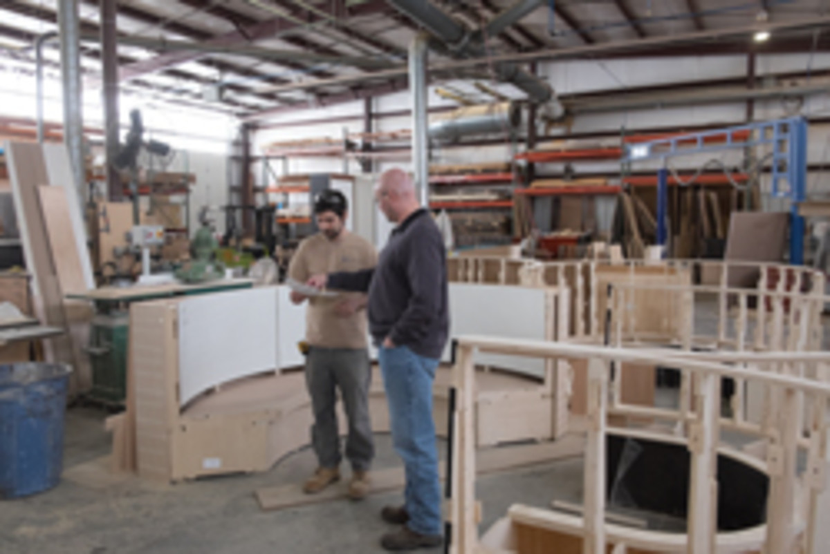The shop completes about 70 to 100 jobs per year for an even mix of residential and commercial clients.