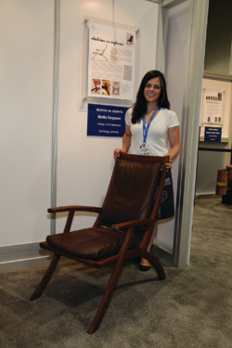 "College of the Redwoods student Mollie Ferguson won the Best of Show award for her chair, ""Dulcius ex asperis."""