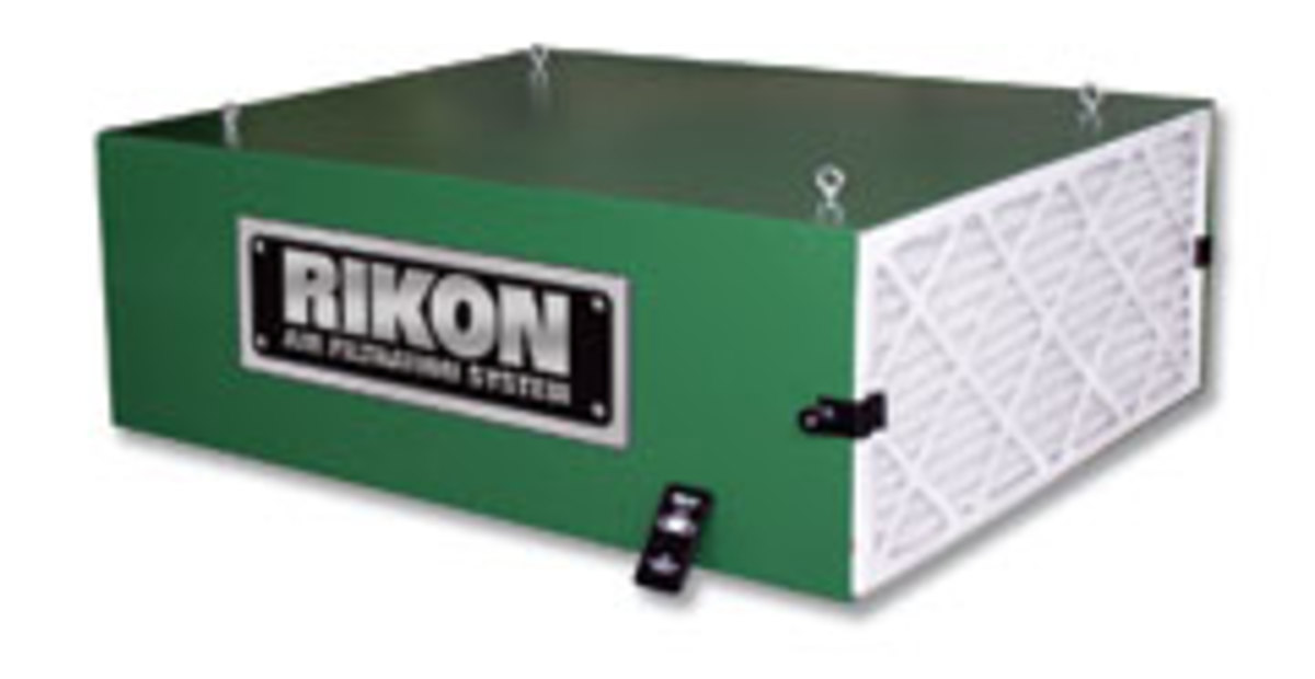 Rikon's 950 CFM air filtration system, model 61-200.