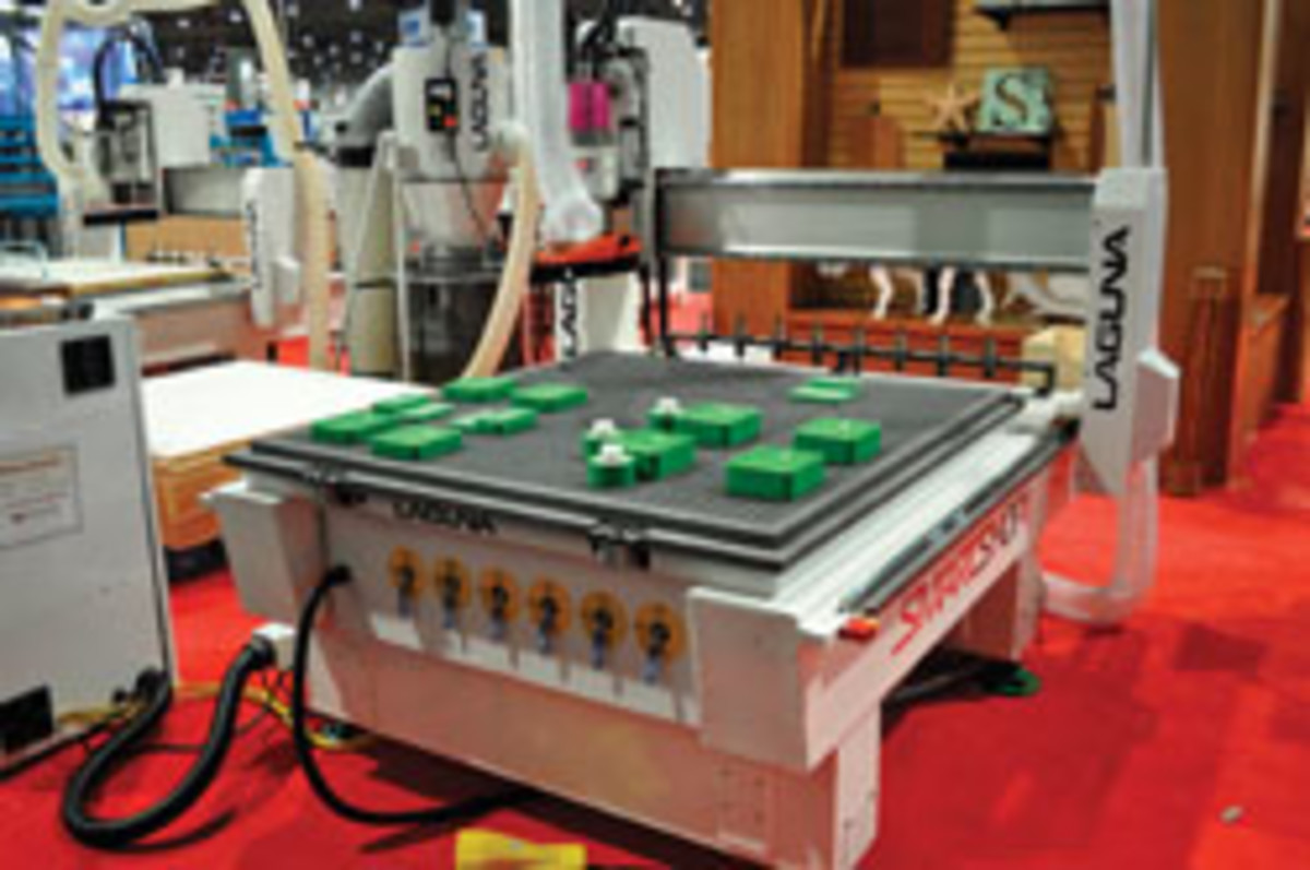 Laugna's SmartShop CNC router, shown in July at the AWFS fair.