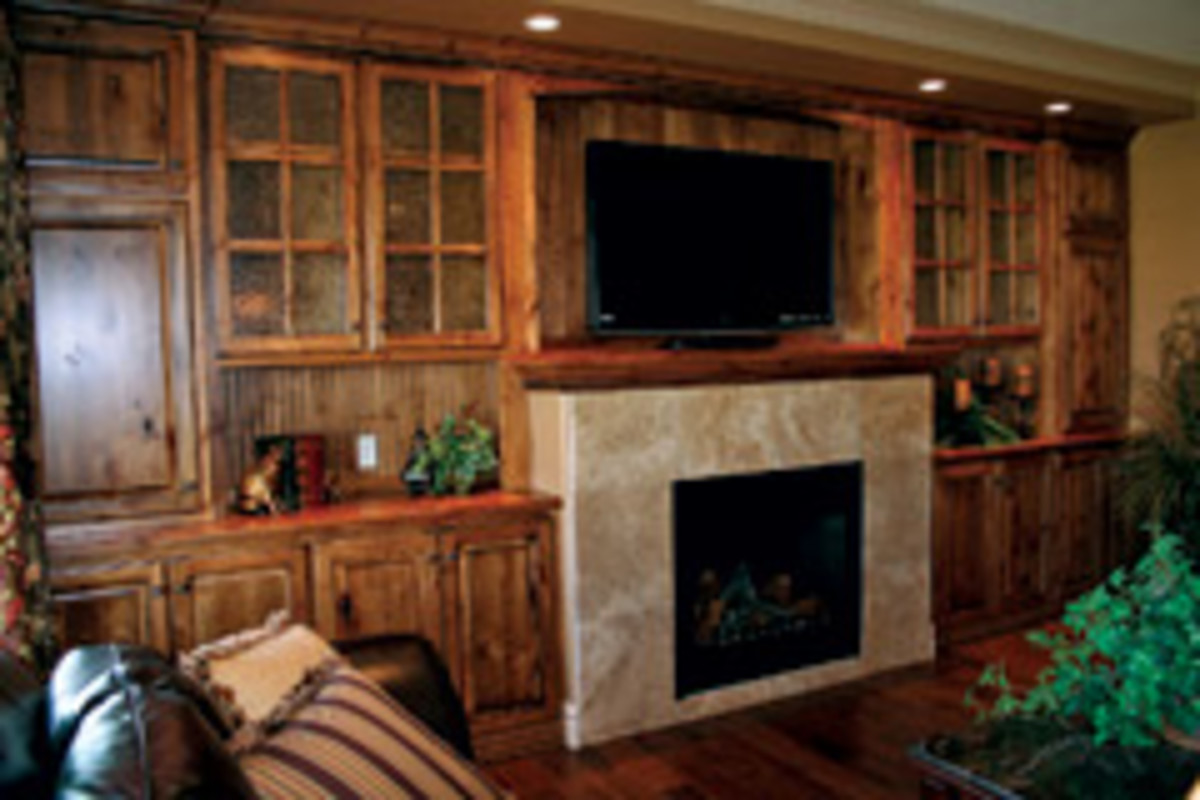 A contemporary kitchen and a built-in are all in a day's work for Merrill Woodworking and Design.