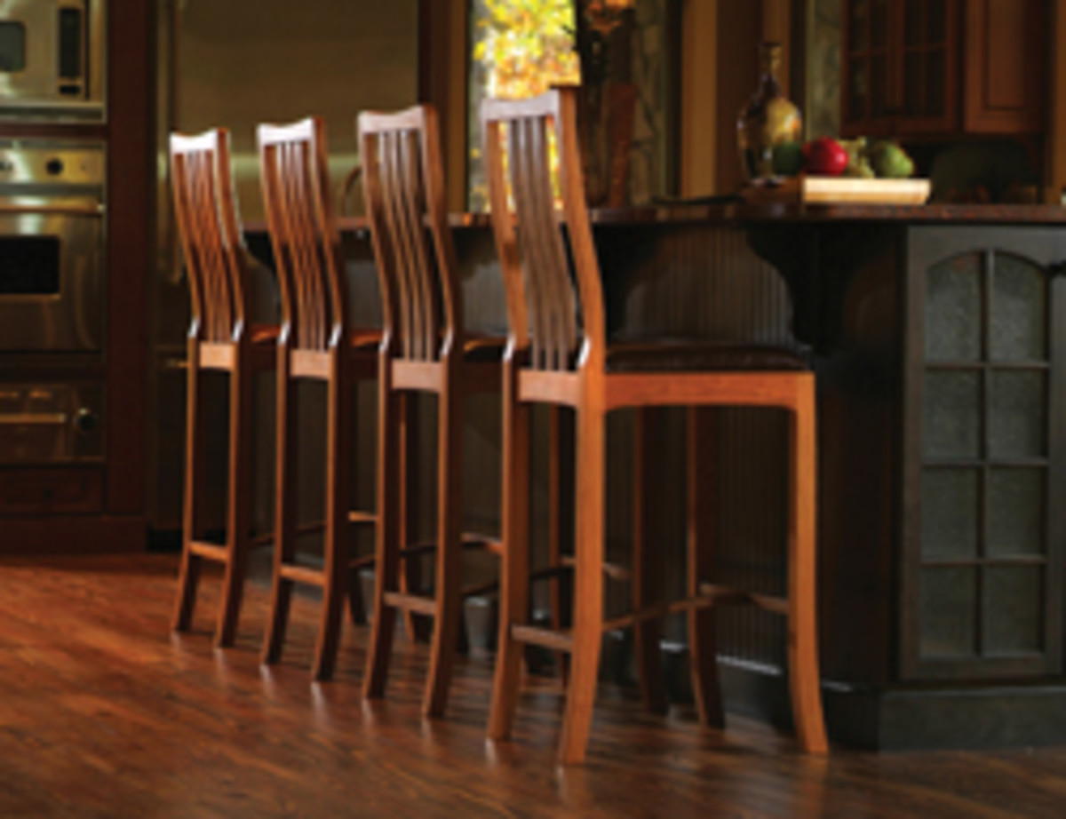 Bar-height versions of the Zacappa Collection chairs.
