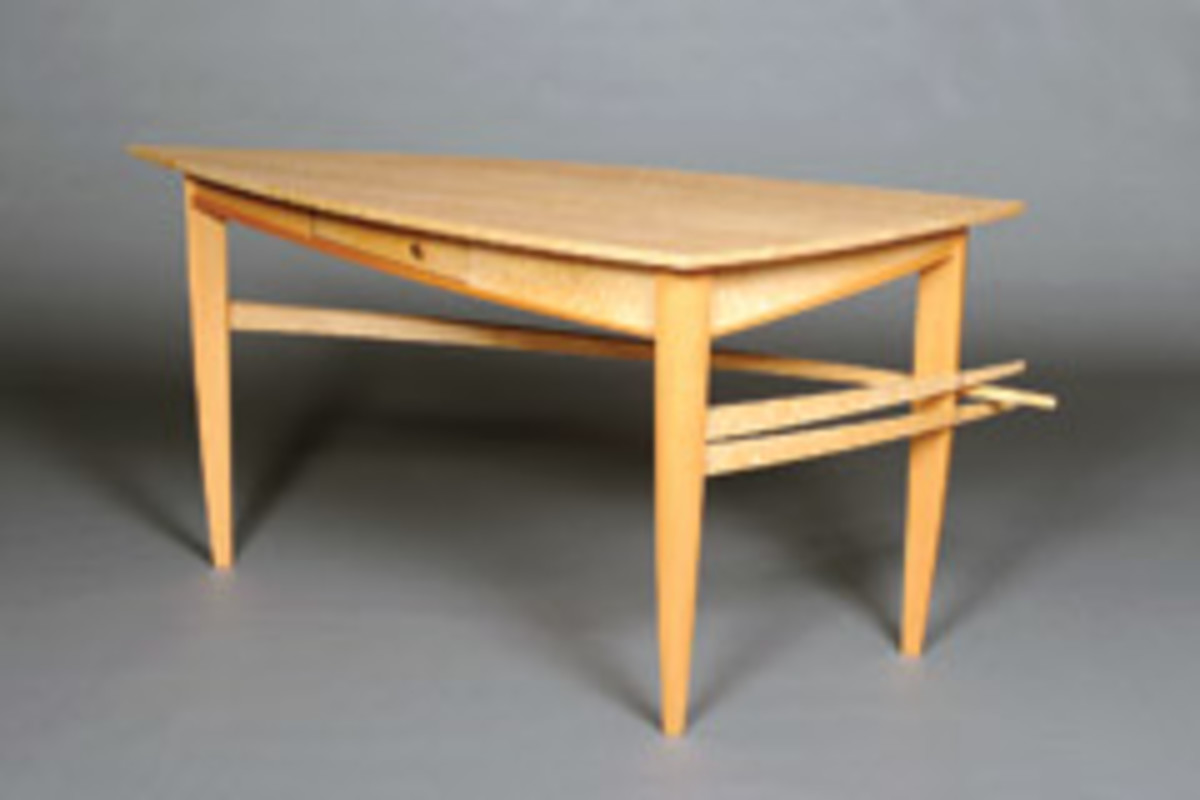 "Melissa Engler's winning entry in the accent category, the ""Swallowtail Writing Desk."""