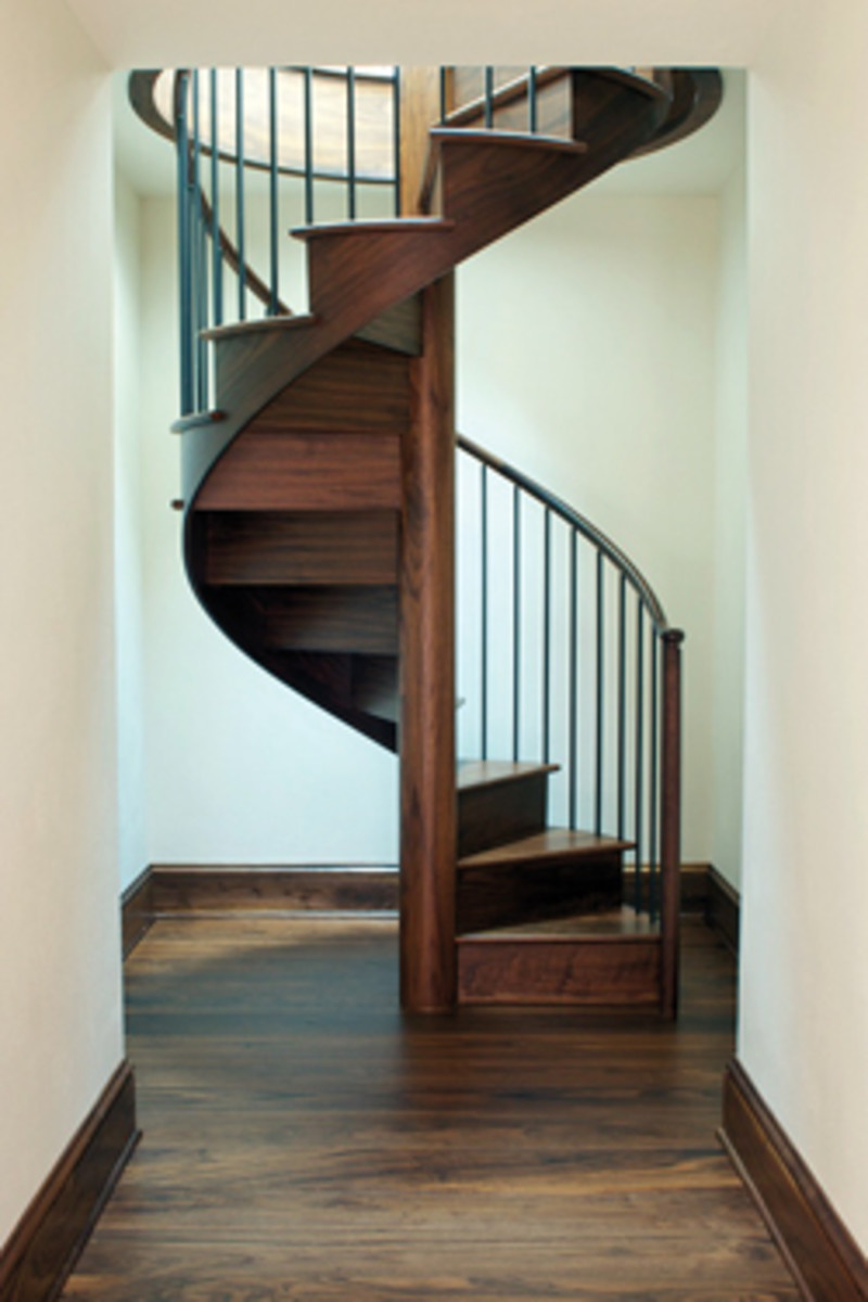 Spiral staircases have always been a shop specialty, but Albion is also known for its high-end cabinets and furniture.