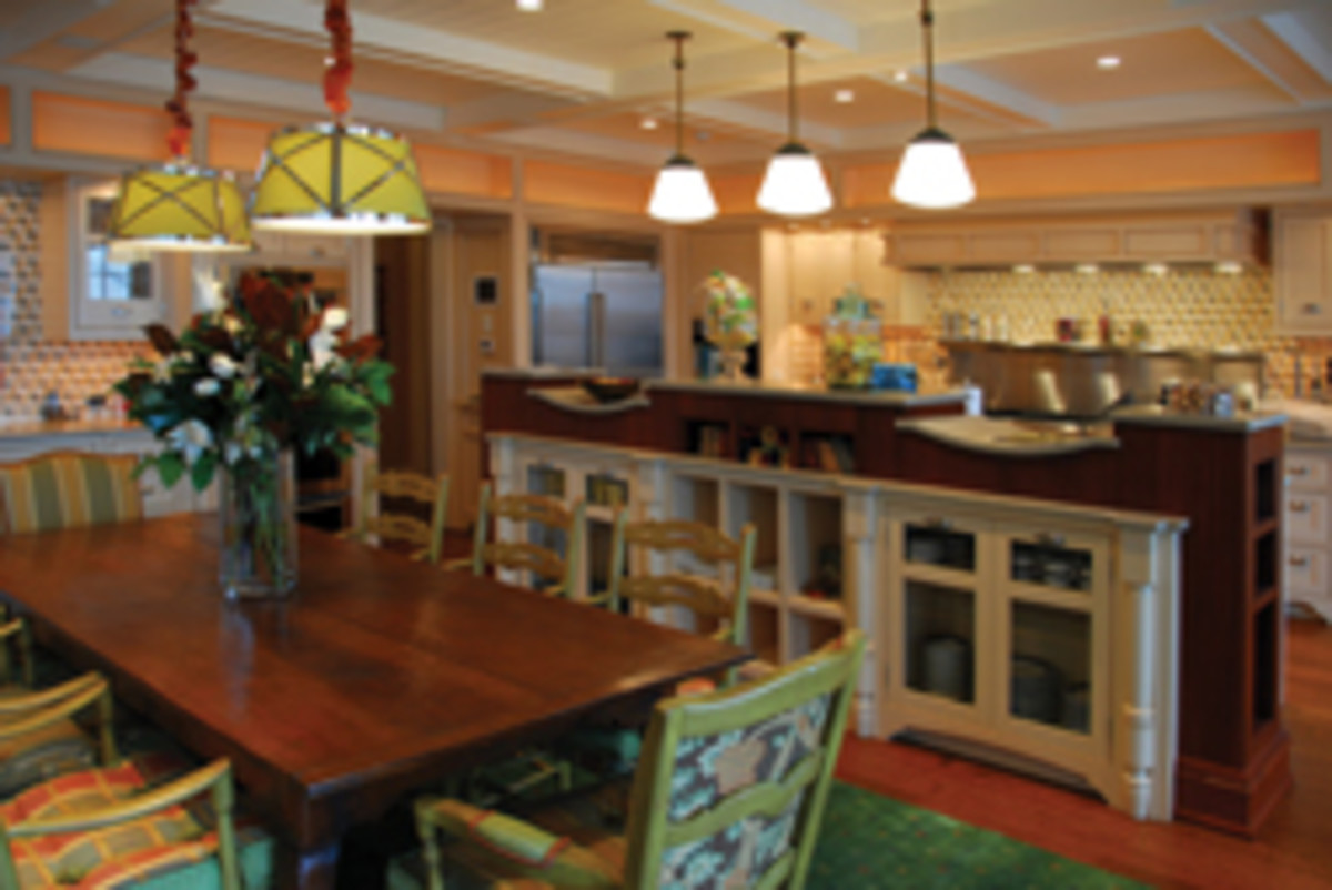 A recent kitchen remodel, the type of work that accounts for about 95 percent (along with bath remodels) of the shop's business.