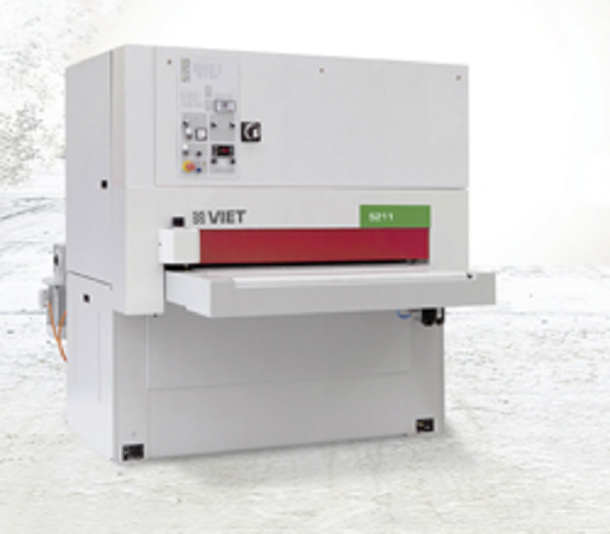Biesse offers nine Viet brand wide-belt sanders, starting with the entry-level S211 designed for smaller shops.