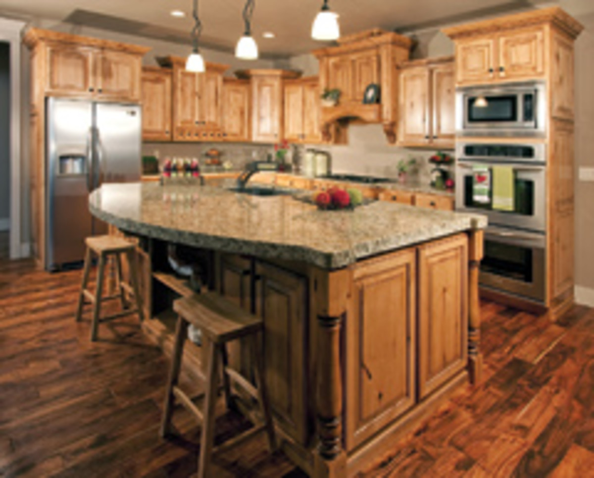 Kitchen cabinets account for about 95 percent of the company's work.