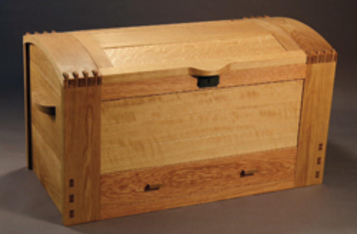 A blanket chest by Erik Curtis.