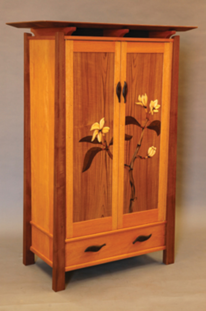 "The ""Mastery Showcase"" at the Northwest Woodworking Studio in Portland, Ore., featured this armoire by Tom Nichols."
