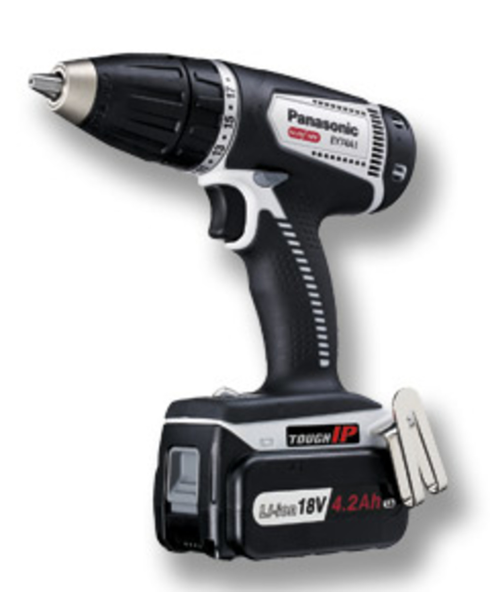"Panasonic's new 1/2"" drill/driver, model EY74A1X."