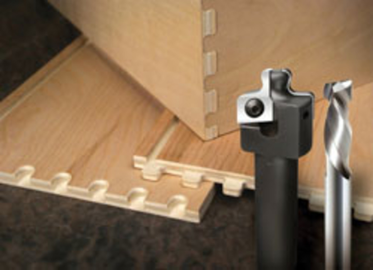 Vortex's dovetail drawer system (Kit Nos. 7500 and 7600) allows users to quickly and easily make dovetail drawer components with a nested base format.