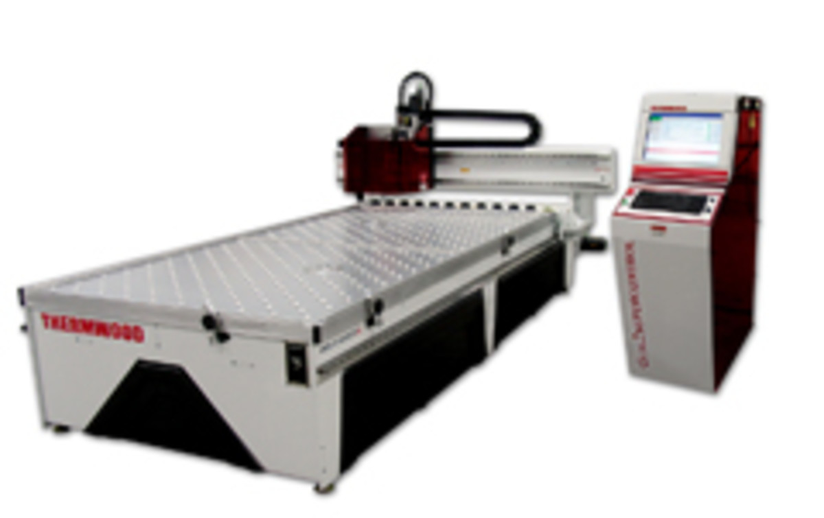 "The new CabinetShop43 machine from Thermwood features a 61"" x 121"" fixed table."