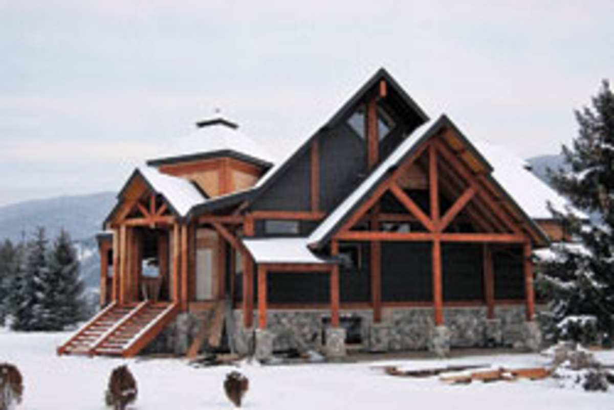 A recent project supplied by Northern Log & Timber in Kelowna, B.C.